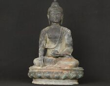 """13.0""""H ASIAN OLD BRONZE COLLECTABLE HAND CASTING BUDDHA ORNAMENT STATUE FIGURE"""