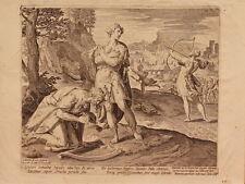 ETCHING ACQUAFORTE BULINO JAN SADELER MARTIN DE VOS STORIA SAUL E DAVID 1595 (8)