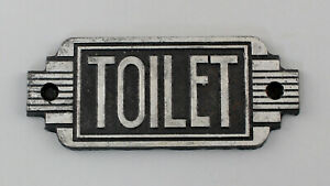 9977635 Cast Metal Door Sign Toilet Toilet Art Deco Rustic 14, 5x6cm