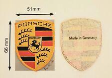 Porsche Wappen Textil Aufnäher, 51mm x 66mm, original, Made in Germany, NEU