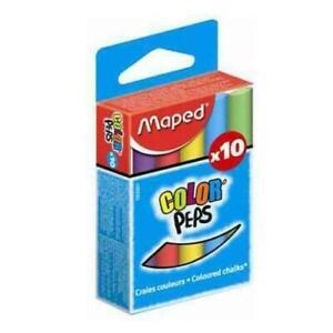 Maped Craie pour tableau COLOR'PEPS, rond, assorti lot de 10 couleurs
