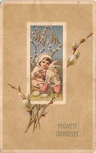 BC62022 Easter Pasques Enfant Rabbit Children  hungary husveti