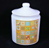 Vintage Painted Glass Printed Cookie Jar/Canister