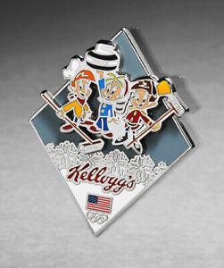 TEAM USA RINGS 2014 OLYMPIC PIN KELLOGGS CURLING 2022 BEIJING TRADER