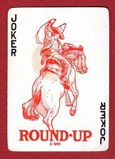 1 Single Swap Playing Card JOKER #46 HORSE & COWBOY WESTERN VINTAGE OLD ANTIQUE