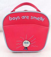 2004 David & Goliath Boys are Smelly Red Vinyl Hardsided Train Case Bag Purse