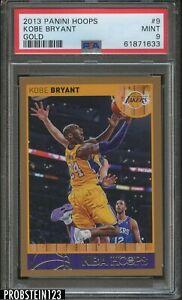 2013 Panini Hoops Gold #9 Kobe Bryant Los Angeles Lakers HOF PSA 9 MINT