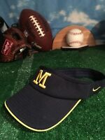U of M Michigan Wolverines Nike flex fit visor hat Cap h44