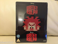 DISNEY WRECK IT RALPH STEELBOOK BLU RAY ZAVVI EXCLUSIVE **NEW & SEALED**