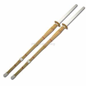 Set of 2 47'' Kendo Shinai Japanese Training Practice Sword Bamboo Stick Kendo