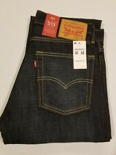 Levis 513 Jeans New Men Levi's Slim Straight Fit blue  $70 W31 L32 085130582