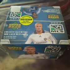 2007 Upper Deck Soccer MLS Edition Beckham, Factory Sealed Box (36 packs)