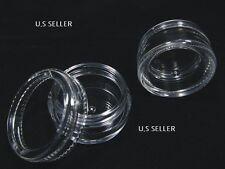 (5)Small Jars- Clear Round Storage Container Mini Plastic Jar/Bottles (1.00)5ml