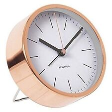 Karlsson Wecker Alarm Clock Ka5536gr weiß minimal D.10cm