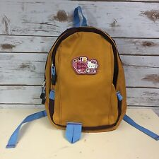 Hello Kitty Sanrio Backpack Mini Small HTF Toddler Orange/Brown/Blue MINT!