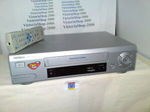 PHILIPS VHS VCR VR620 Video Recorder -6 Head-HiFi-Auto Head Cleaner-Tape Library