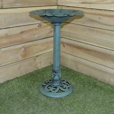 Bird Bath Traditional Pedestal Outdoor Garden Ornamental  Water Weatherproof