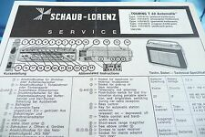 Service Manual Instructions for Schaub-Lorenz Touring T 60 Automatic