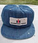 IH International Harvester Trucks Denim Snapback Trucker Hat Vintage Patch
