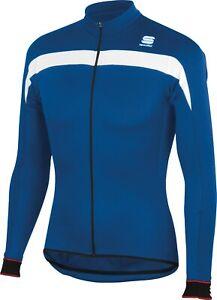 Sportful Men's Pista Thermal Long Sleeve Cycling Jersey Blue Size Large