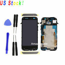 Black For HTC One M8 LCD Touch Screen Digitizer Frame Replacement Parts Tool USA