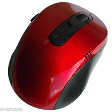 2.4g Wireless/Cordless Mouse Ottico Con Ricevitore USB Rosso.