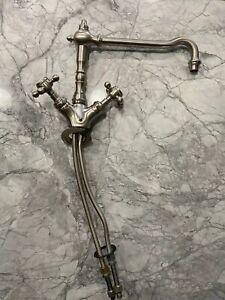 Waterworks Julia One Hole Faucet - Burnished / Matte Nickel