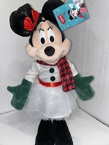 Gemmy Christmas Holiday Disney 24 in Tall Minnie Mouse Greeter White Snow Dress