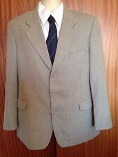 YSL Marron carreaux laine pure vintage veste de tailleur 42 REG EU54R