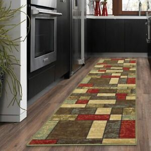 "Checkered Runner Rugs Mat Carpet Area Floor Rugs 20""X59"" Non-Slip Rubber Backing"