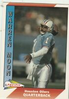 FREE SHIPPING-MINT-1991 Pacific #181 Warren Moon Houston Oilers PLUS BONUS CARDS