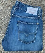 LEVIS 539 VINTAGE STRAIGHT WHITE TAB BLUE JEANS, 33 x 34, PREVIOUSLY WORN