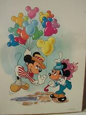 "Disney Mickey Minnie Mouse ballons 18"" by 24"" new poster vintage"