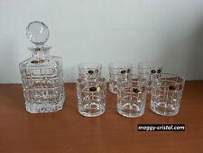 service à whisky Timesquare en cristal de boheme  verre x 6 +1 carafe en promo *