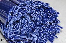 ABS Plastic welding rods mix 3mm triangular+6mm flat blue, 20 pcs