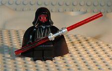 LEGO MINIFIG PERSONNAGE FIGURINE STAR WARS : DARTH MAUL + DOUBLE SABRE NEUF