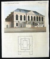 11-90, DRESDEN GERMANY ART GALLERY BUILDING, 1815 BERTUCH Art Print Engraving