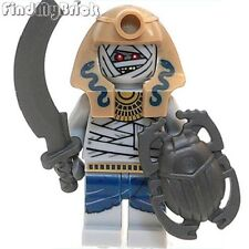 C905T Lego Pharaoh's Quest Mummy Warrior Minifigure with Sword & Shield 7325 NEW