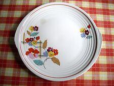 "Vintage Edwin M. Knowles Yorktown Victoria 10"" Art Deco Flower Plates ~Set of 2~"