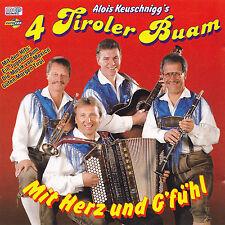 4 TIROLER BUAM ( Alois Keuschnigg ) - CD - MIT HERZ UN G'FÜHL