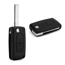 2 Buttons Remote Flip Car Key Fob Replace Shell Case for Peugeot 207 307 Fine
