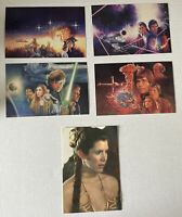 Lot of 5 Star Wars Postcards Unused Return of the Jedi Princess Leia Luke Han