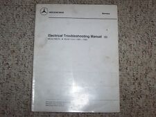 1987 Mercedes Benz 560SL 560 SL Electrical Wiring Diagram Troubleshooting Manual