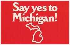 Say Yes To Michigan! - Vintage Postcard