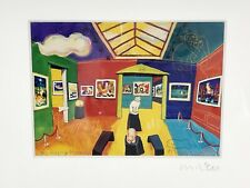 MICHAEL LEU Signed THE FUZZY MUSEUM Matted Giclee Serigraph Lithograph Print