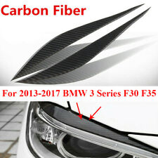 2X Auto Car Accessories Carbon Fiber Headlight Eyebrow Eyelid Trim Cover Sticker (Fits: Saab 9-3)