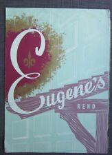 1960s Original Vintage Eugene's Restaurant, Reno Nevada, Art Cover