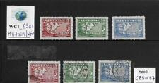 WC1_6981. LITHUANIA. 1936 air mail set. Scott C85-C87. MH-MNH & Used