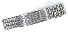 14 Karat Solid White Gold Large Heavy Mens 5 CT Diamond ID Bracelet B136