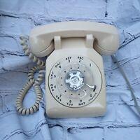 Vintage Western Electric Rotary Dial Telephone Desk Table Phone Beige 500DM